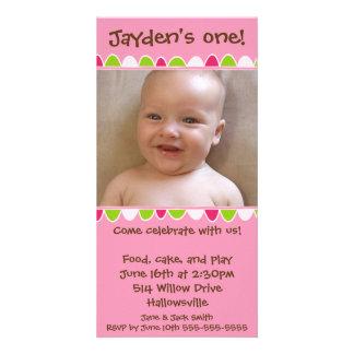 Cartão 02 da franja do cupcake cartoes com foto personalizados