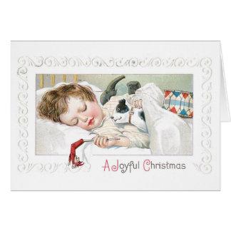 Cartão 034 brinquedos do menino da criança do sono do