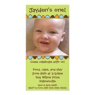 Cartão 03 da franja do cupcake cartão com fotos personalizado