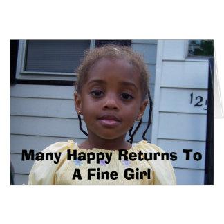 Cartão 100_0025, muitos retornos felizes a uma menina