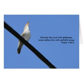 Cartão 100:2, carriça & Bluebird do salmo