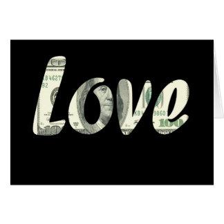 Cartão 100 dólares de amor