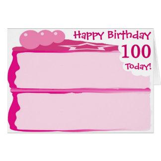 Cartão 100th aniversário feliz