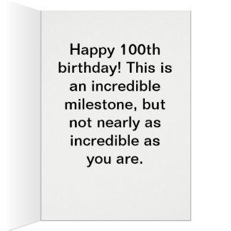Cartão 100th aniversário feliz - envelope branco incluído