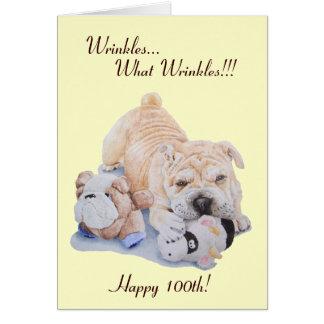 Cartão 100th engraçado shar do cão e do ursinho do pei do