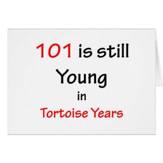 Cartão 101 anos da tartaruga