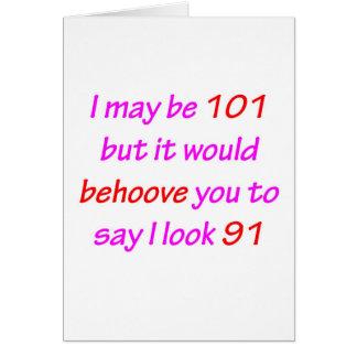 Cartão 101 Behoove o