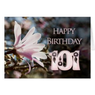 Cartão 101st Aniversário com magnólia
