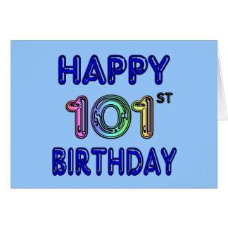 Cartão 101st aniversário feliz