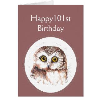 Cartão 101st Aniversário que o ama, humor bonito da