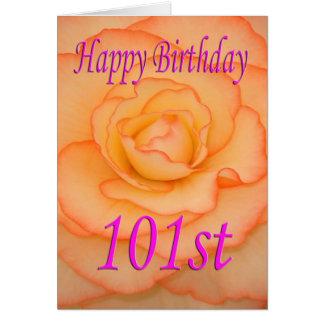 Cartão 101st flor feliz do aniversário