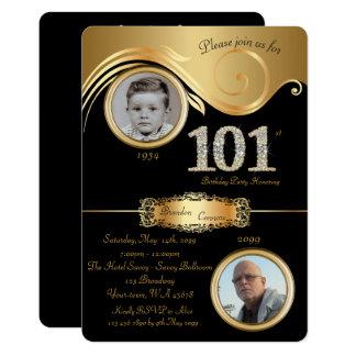 Cartão 101st, homem 101st do aniversário, art deco