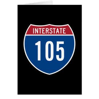 Cartão 105 de um estado a outro