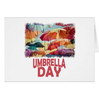 Cartão 10 de fevereiro - dia do guarda-chuva - dia da