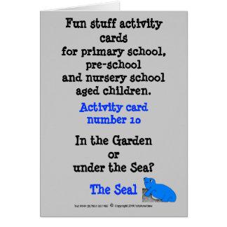 Cartão 10 o selo