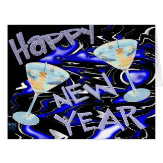 Cartão 11x8.5 do feliz ano novo
