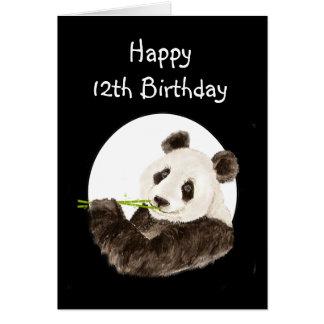 Cartão 12o Menino especial de Beary do aniversário com