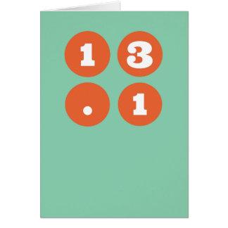 Cartão 13,1 meia maratona