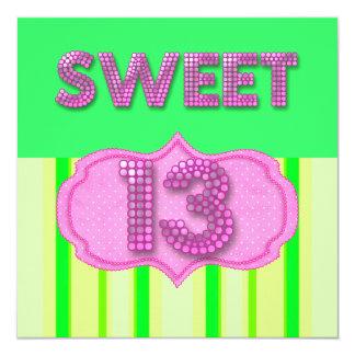 Cartão 13o Limão cor-de-rosa da festa de aniversário do