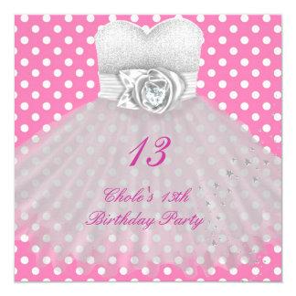 Cartão 13o Meninas de festa de aniversário 13