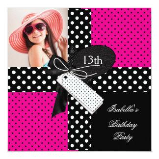 Cartão 13o Meninas do adolescente da festa de aniversário
