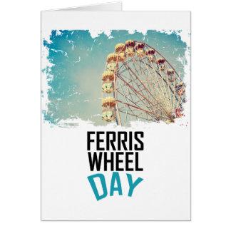 Cartão 14 de fevereiro - dia da roda de Ferris