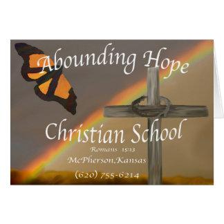 Cartão 15:13 de abundância da esperança