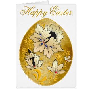 Cartão 15 do ovo da páscoa - arte popular do russo