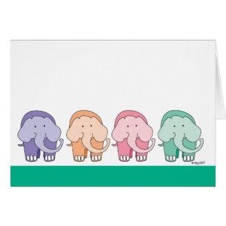 Cartão 16 do aniversário pés de elefantes do desejo