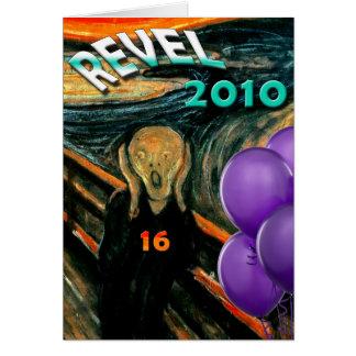 Cartão 16o aniversário engraçado