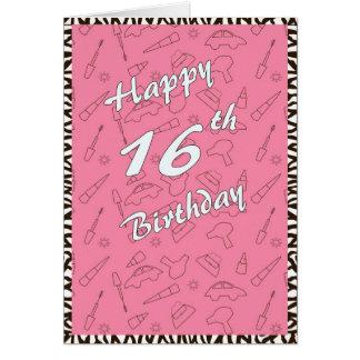 Cartão 16o aniversário feliz