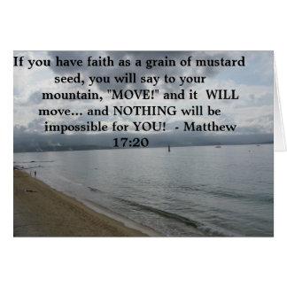 Cartão 17:20 de Matthew - citações inspiradas