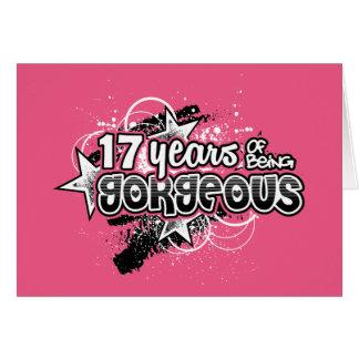Cartão 17 anos de ser lindo (17o aniversário)