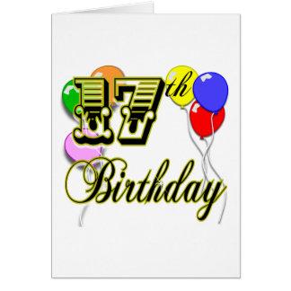 Cartão 17o Aniversário
