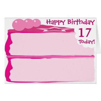 Cartão 17o aniversário feliz