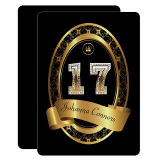 Cartão 17o, homem da mulher da festa de aniversário, cor