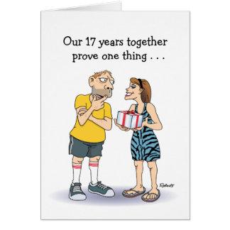 Cartão 17os desenhos animados engraçados do aniversário: