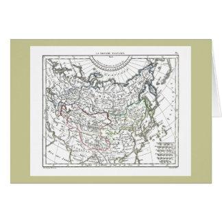 Cartão 1806 mapa - La Tartarie grandioso