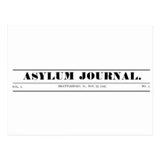 Cartão 1842 do Masthead do jornal do asilo