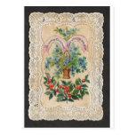 Cartão 1870 do ano novo do Natal do Victorian Cartao Postal