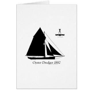 Cartão 1882 draga da ostra - fernandes tony