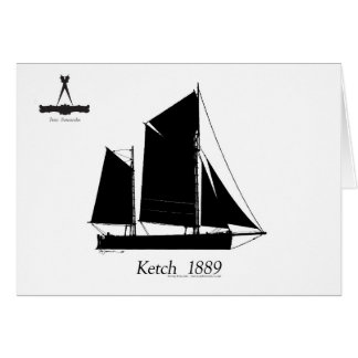 Cartão 1889 ketch solent - fernandes tony