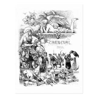 Cartão 1894 do vintage de Carneval