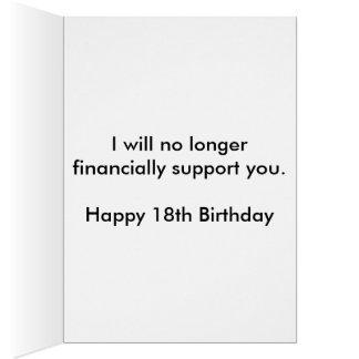Cartão 18o aniversário engraçado