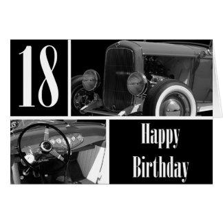 Cartão 18o aniversário feliz