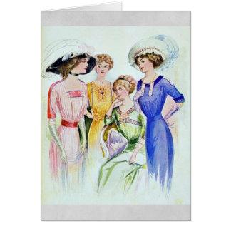 Cartão 1911 da forma do vintage