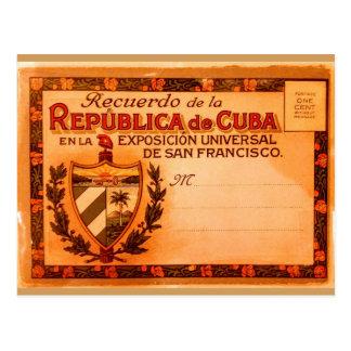 Cartão 1915 de Cuba do vintage