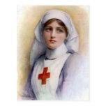 Cartão 1916 da enfermeira da reprodução do vintage cartão postal