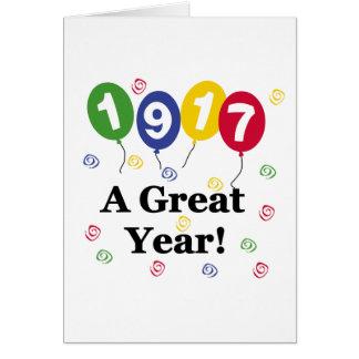 Cartão 1917 um aniversário do grande ano