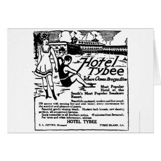 Cartão 1920 da propaganda da ilha GA de Tybee